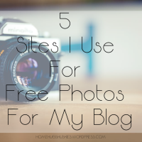 5 Sites I Use For Free Photos For My Blog