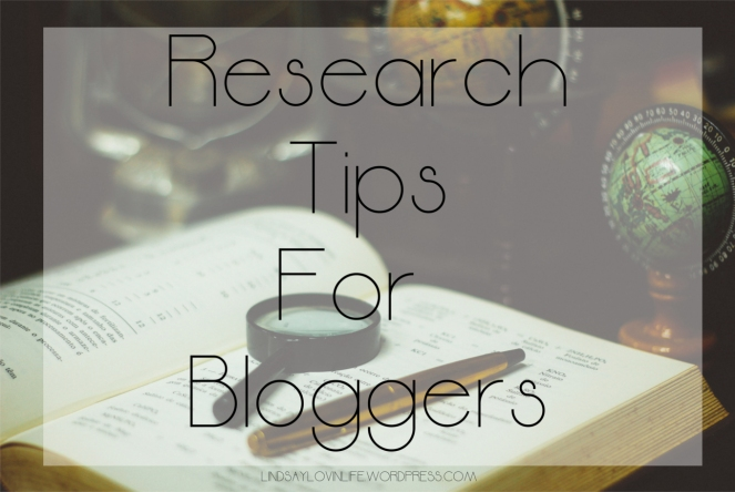 Research Tips For Bloggers