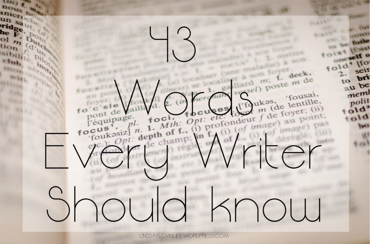 43 Words Every Writer Should know
