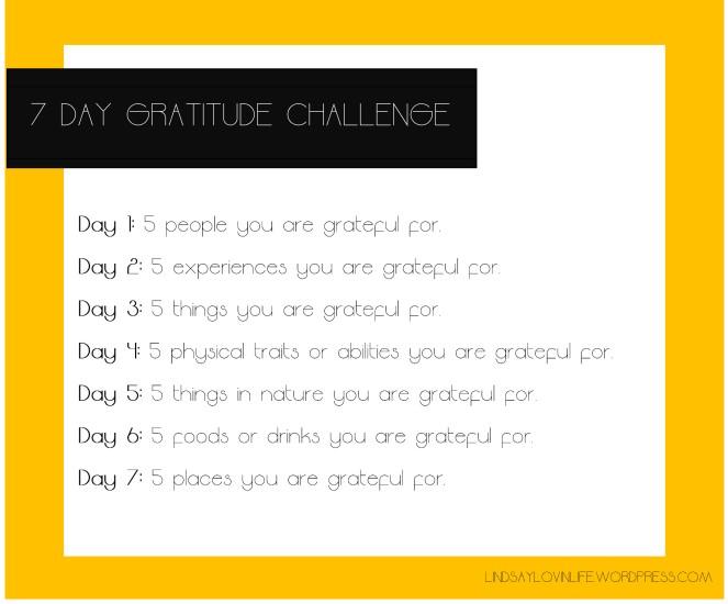 7 Day Gratitude Challenge