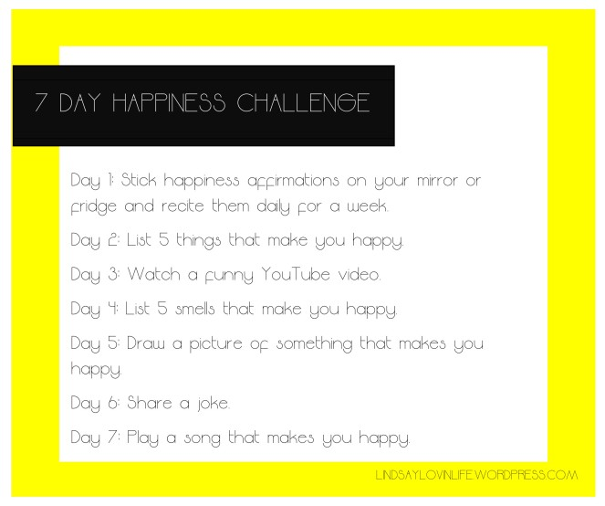 7 Day Happiness Challenge