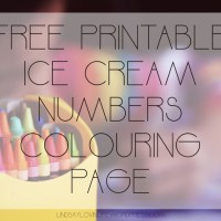 Ice Cream Numbers Colouring Page – Number 8