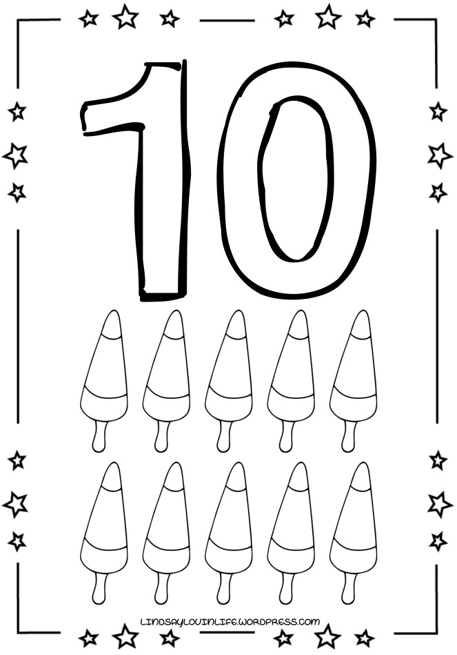 10 Colouring Page