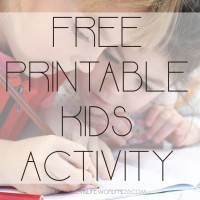 Free Printable Kids Activity - Continents and Oceans Crossword & Subtract or Add