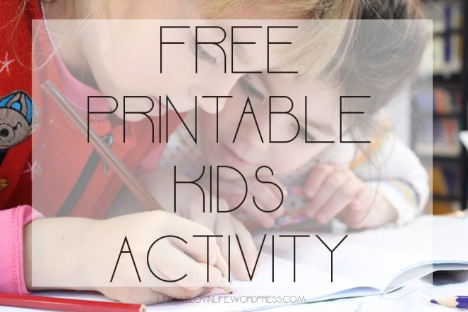 Free Printable Children's Activity