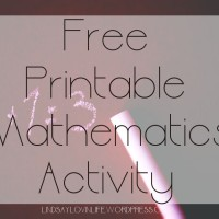 Free Printable Mathematics Activity – Word Problem 4