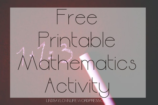 Free Printable Mathematics Activity