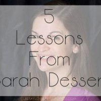 5 Lessons From Sarah Dessen