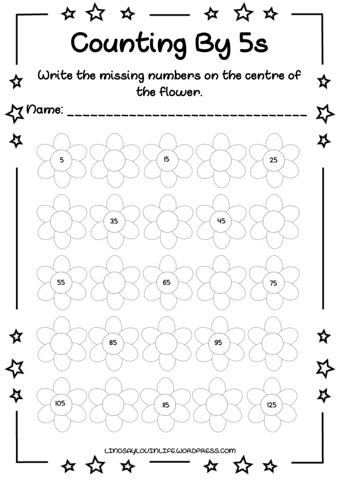 Free Printable Count By 5s Worksheet