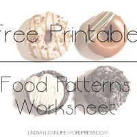Free Printable Food Patterns Worksheet