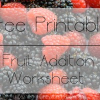 Free Printable Fruit Addition Worksheet