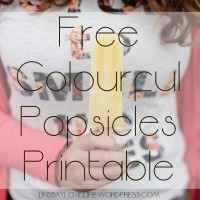 Free Colourful Popsicles Printable