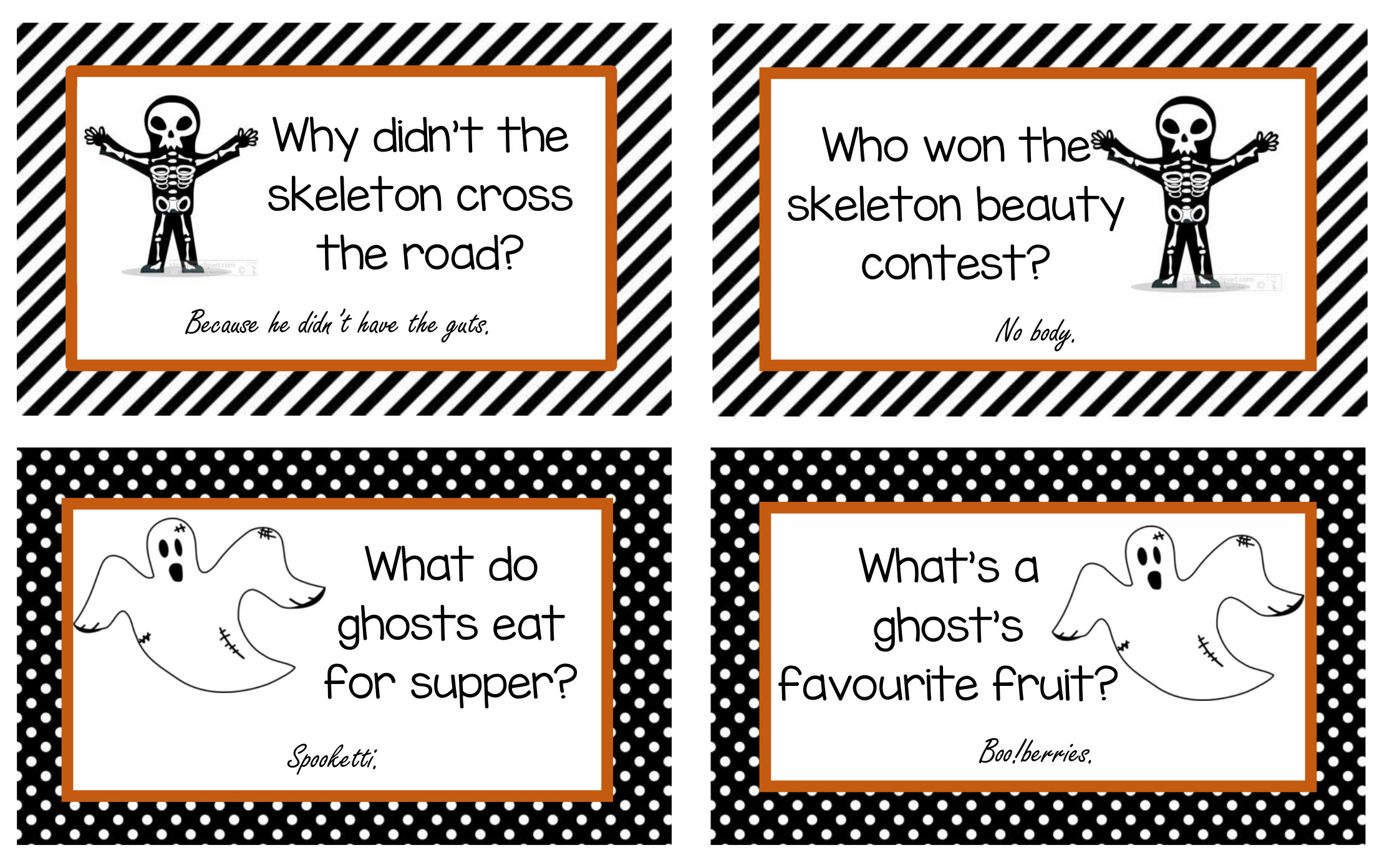 photo relating to Printable Jokes known as Cost-free Printable Halloween Lunchbox Jokes