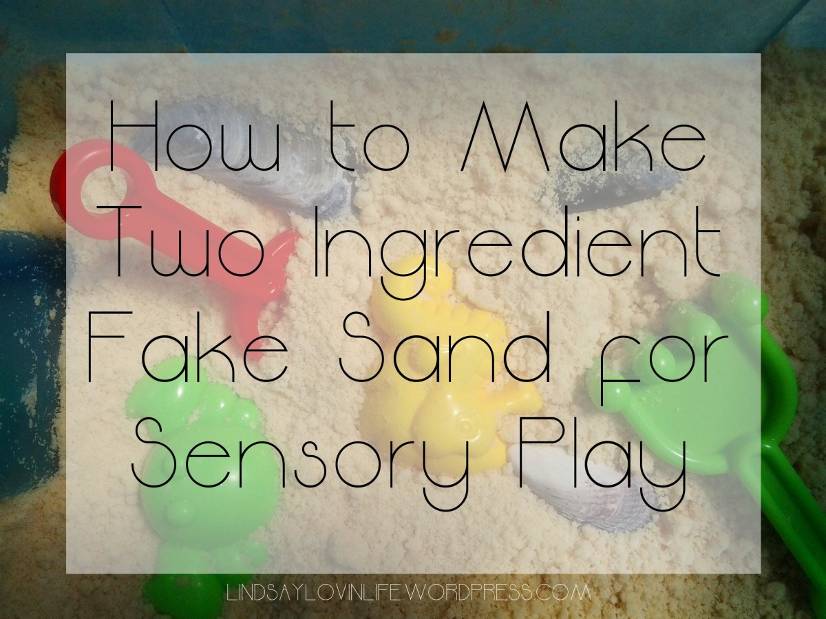 How to Make Two Ingredient Fake Sand for Sensory Play