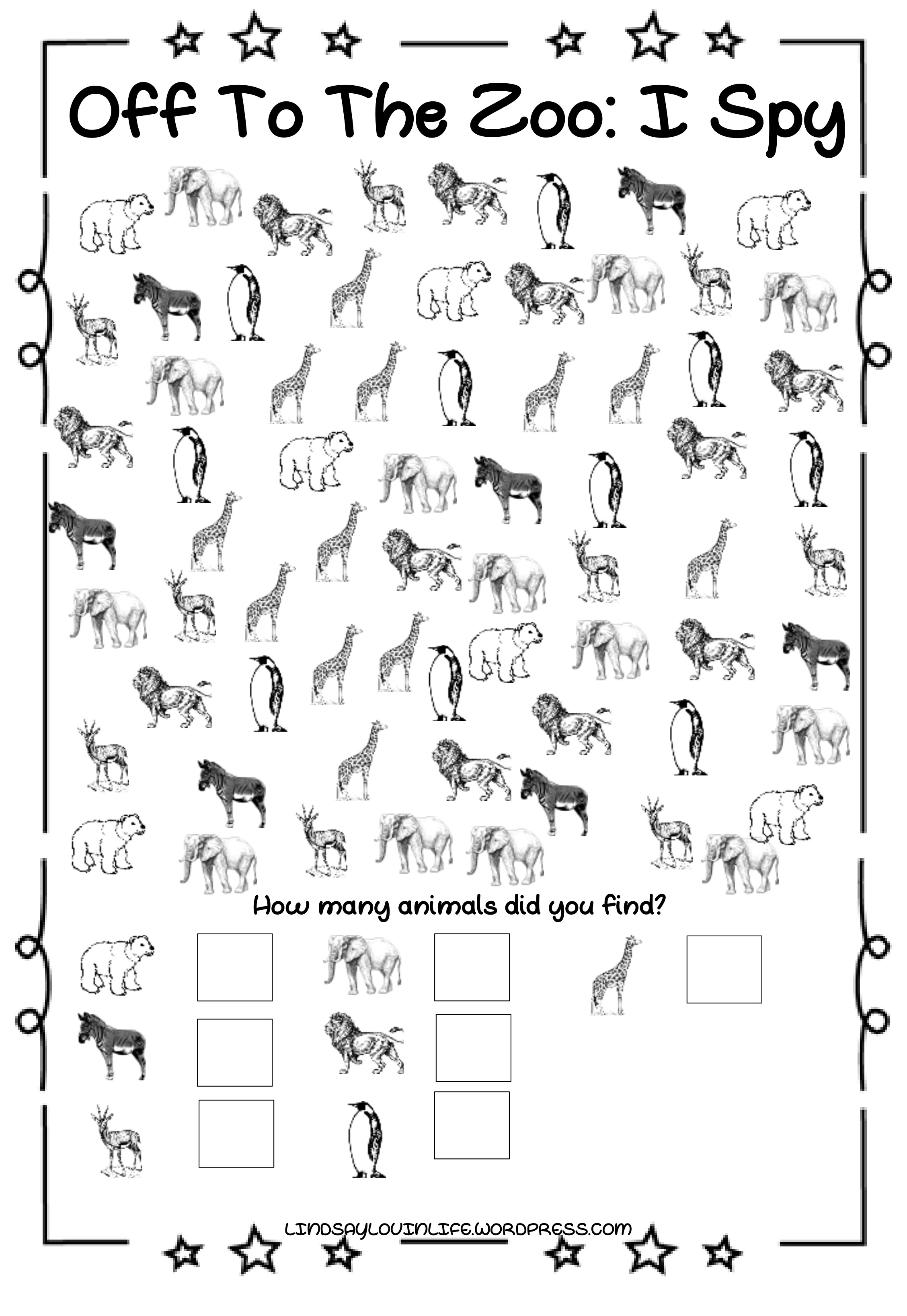 image about I Spy Printable identified as Adventurous Alex: Off towards the Zoo I Spy No cost Printable
