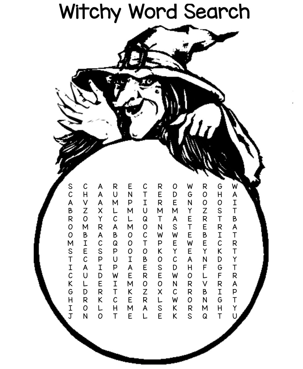 Free Printable Witchy Word Search