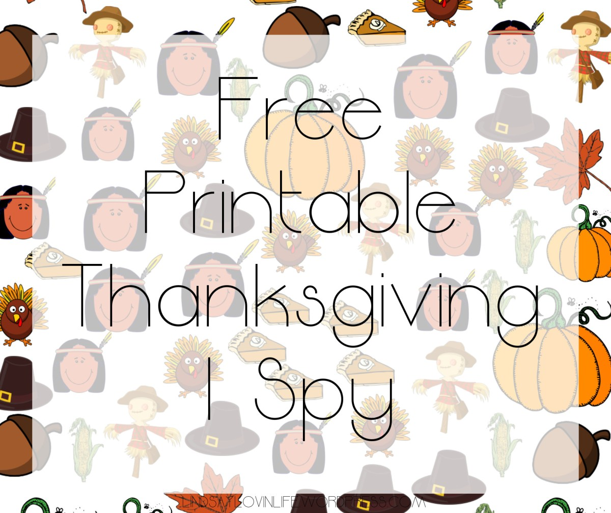 Free Printable Thanksgiving I Spy