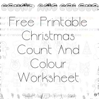 #Blogmas Day 9 – Free Printable Christmas Count And Colour Worksheet