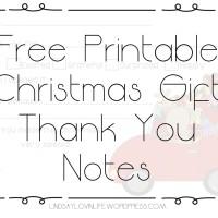 #Blogmas Day 6 - Free Printable Christmas Gift Thank You Notes