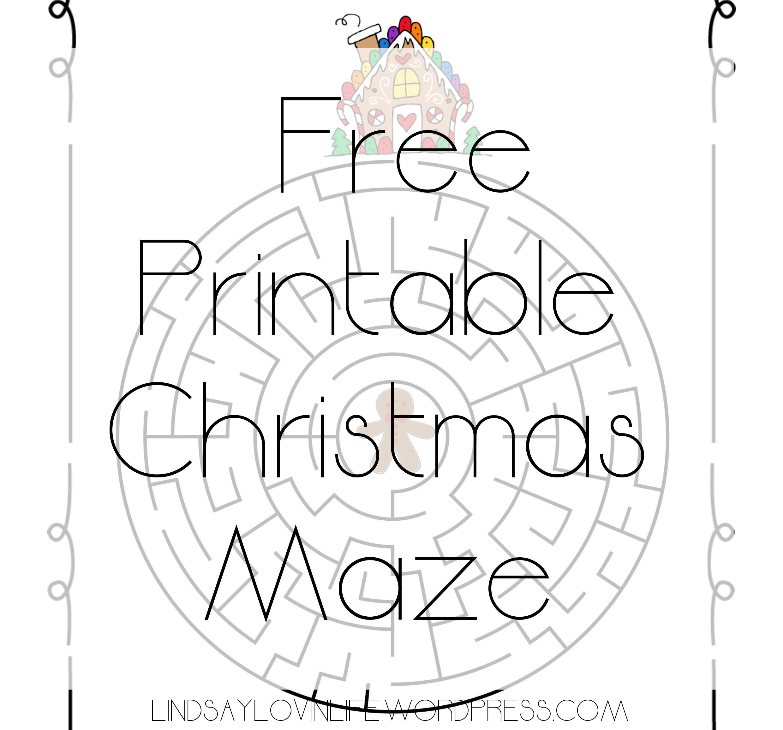 photo relating to Christmas Maze Printable identified as Blogmas Working day 3 No cost Printable Xmas Maze