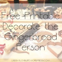 #Blogmas Day 17 - Free Printable Decorate The Gingerbread Person