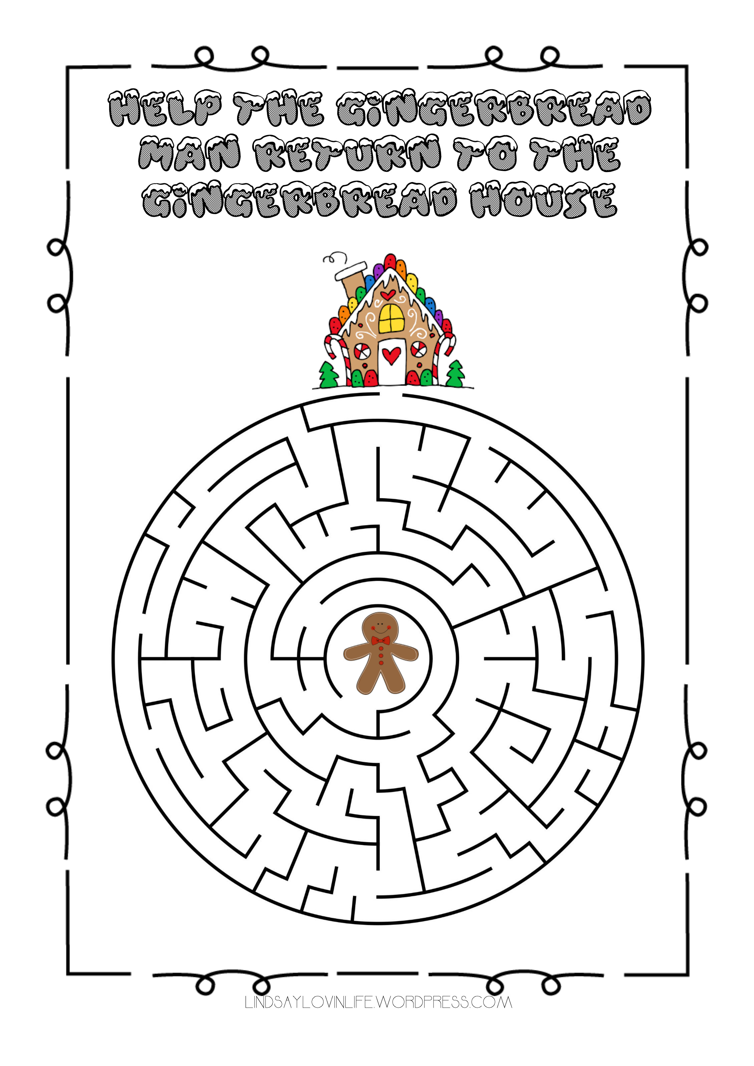 photo about Christmas Maze Printable referred to as Blogmas Working day 3 No cost Printable Xmas Maze